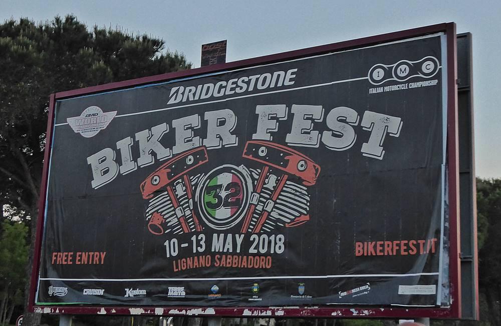 Anzeigetafel Biker Fest