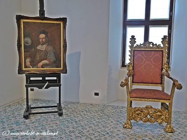 Bischofsstuhl samt Portrait