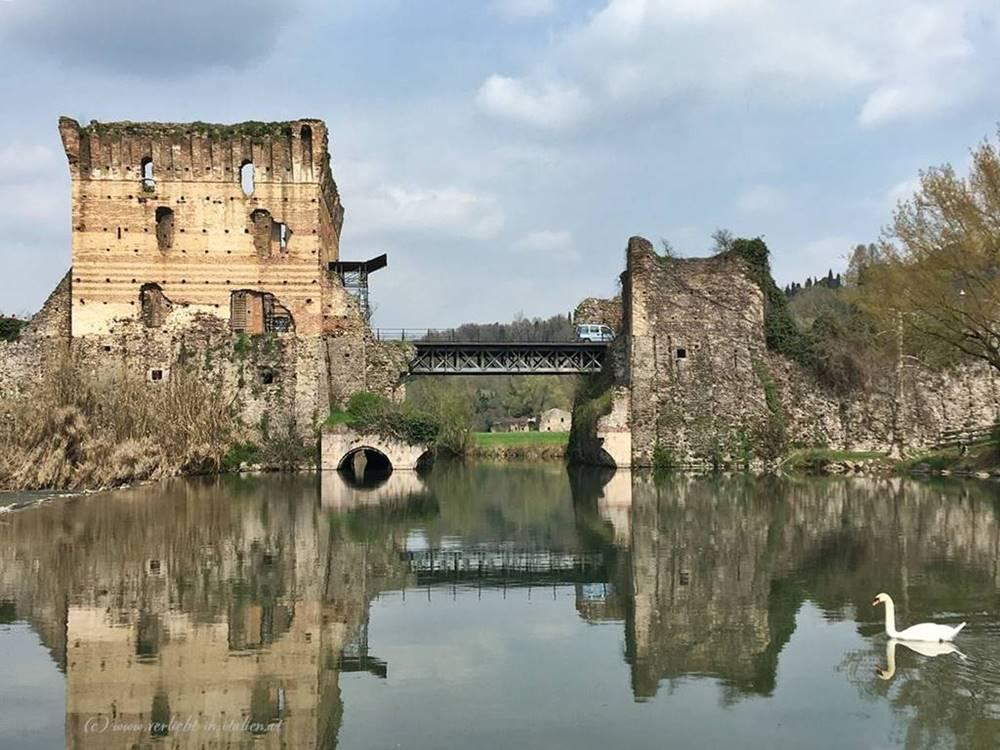 Spiegelung Ponte Visconteo