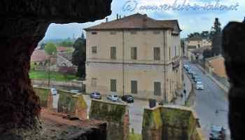 Blick auf Villa Rustica Pisani