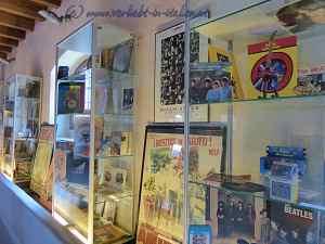 Ausstellungsstücke Beatles
