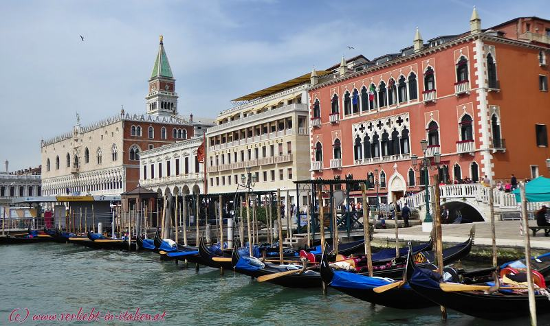 Die Prunkgebäude der Dogen in Venedig
